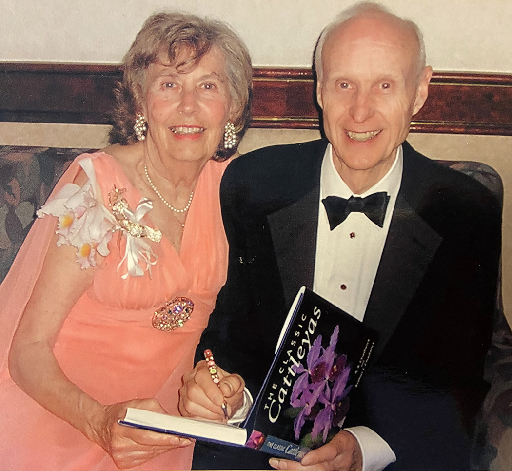 Art Sr signing The Classic Cattleyas book